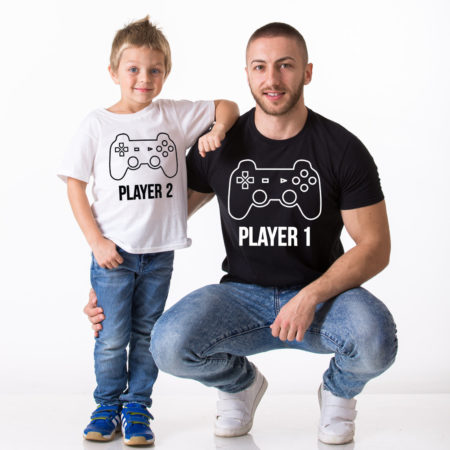 Player 1, Player 2, Matching Daddy and Me Shirts, Father Son Matching Set
