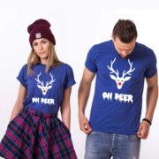 Oh deer, Oh deer Christmas shirt, Oh deer shirt, Santa shirt, Matching couple Christmas shirts, Christmas shirt, Christmas t-shirt, UNISEX 5