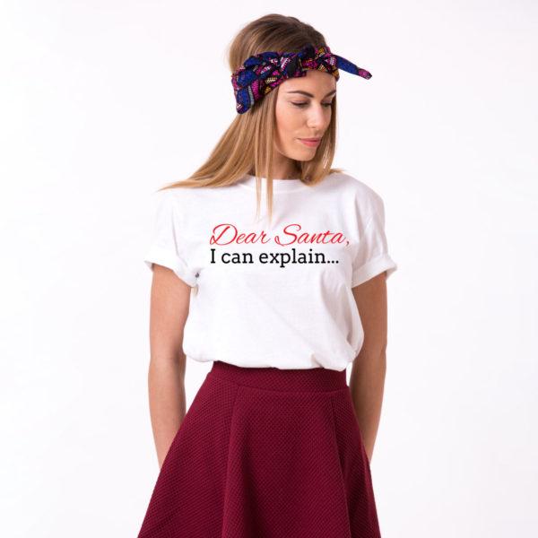 Dear Santa I can explain shirt, Santa shirt, Christmas shirt, Christmas t-shirt, UNISEX 1
