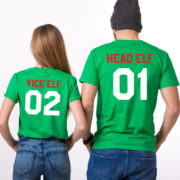 Head Elf Vice Elf matching shirts, Print on the BACK, matching couples Christmas shirts, matching couples Christmas outfits, UNISEX 3