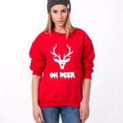 Oh deer, Oh deersweatshirt, Christmas sweatshirt, Oh deer sweatshirt,  UNISEX 3