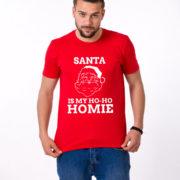 Santa is my ho ho homie shirt, Santa shirt, Christmas shirt, Christmas t-shirt, UNISEX 5