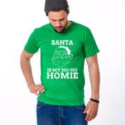 Santa is my ho ho homie shirt, Santa shirt, Christmas shirt, Christmas t-shirt, UNISEX 4