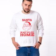 Santa is my ho ho homie sweatshirt, Santa sweatshirt, Christmas sweatshirt, Christmas sweater, UNISEX 3