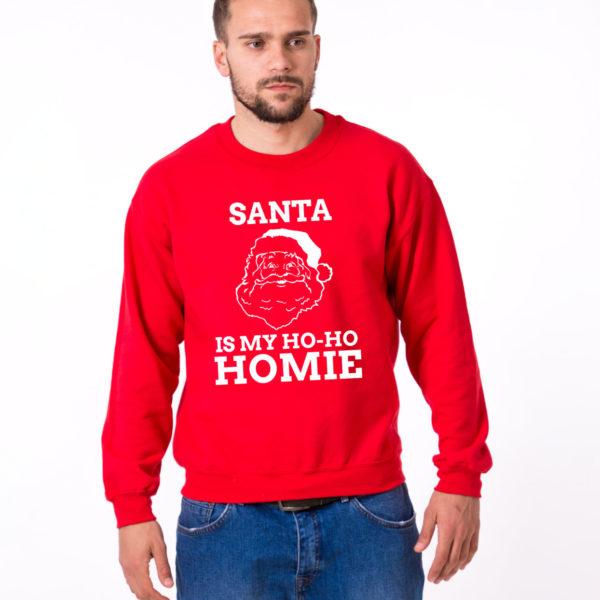 Santa is my ho ho homie sweatshirt, Santa sweatshirt, Christmas sweatshirt, Christmas sweater, UNISEX 1