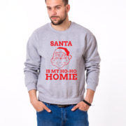 Santa is my ho ho homie sweatshirt, Santa sweatshirt, Christmas sweatshirt, Christmas sweater, UNISEX 2