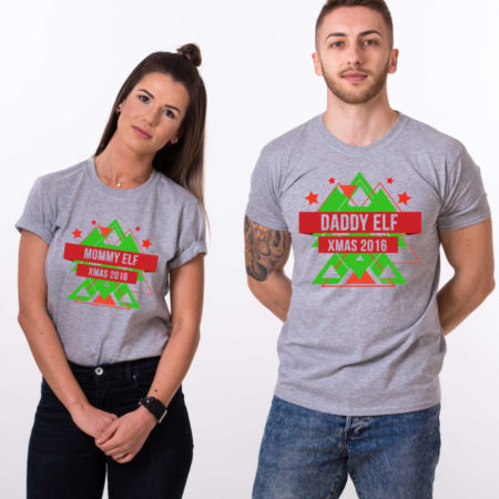 Daddy elf, Mommy elf, Christmas matching shirts, couples Christmas shirts, elf Christmas shirts, UNISEX