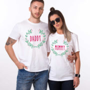 Christmas shirt, Mommy daddy baby Christmas matching shirts for the whole family, Custom name, UNISEX 3
