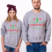 Custom name Christmas family sweatshirt, Ugly Christmas sweater, Family matching sweaters, UNISEX 4