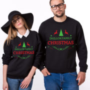 Custom name Christmas family sweatshirt, Ugly Christmas sweater, Family matching sweaters, UNISEX 2