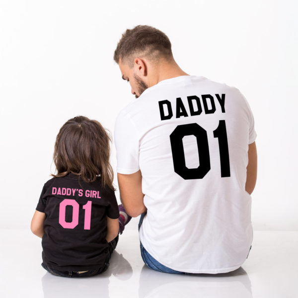 Daddy, Daddy's Girl, Black/Pink, White/Black