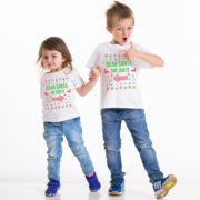 Kids Christmas shirt, Kids Christmas outfit , Sibling shirts, Dear Santa she did it, Dear Santa he did it, TWO kids shirts