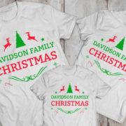 CUSTOM name set of 3 family matching Christmas shirts, matching family Christmas shirts, matching Christmas outfits,family Christmas pajamas 1