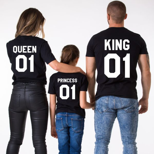 King 01 Queen 01 Princess 01, Black/White