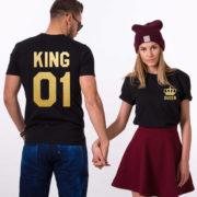 King Queen 01 Pocket Crowns, Black/Gold