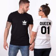 King Queen 01 Pocket Crowns, Black/White, White/Black