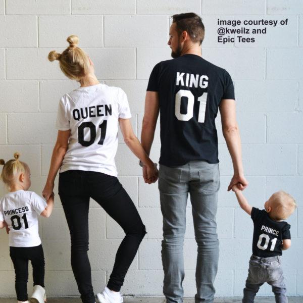 King Queen 01 Prince Princess, Black/White, White/Black – kweilz
