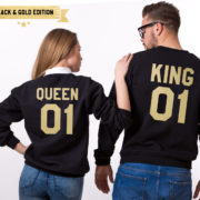 King Queen 01 Sweatshirts, Black/Gold