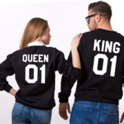 King Queen 01 Sweatshirts, Black/White