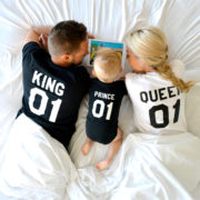 King Queen Prince, Matching Family Shirts