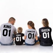 King Queen Prince Princess, Black/White, Gray/Black