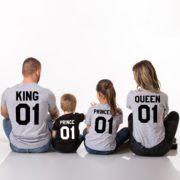 King Queen Prince Princess, Gray/Black, Black/White