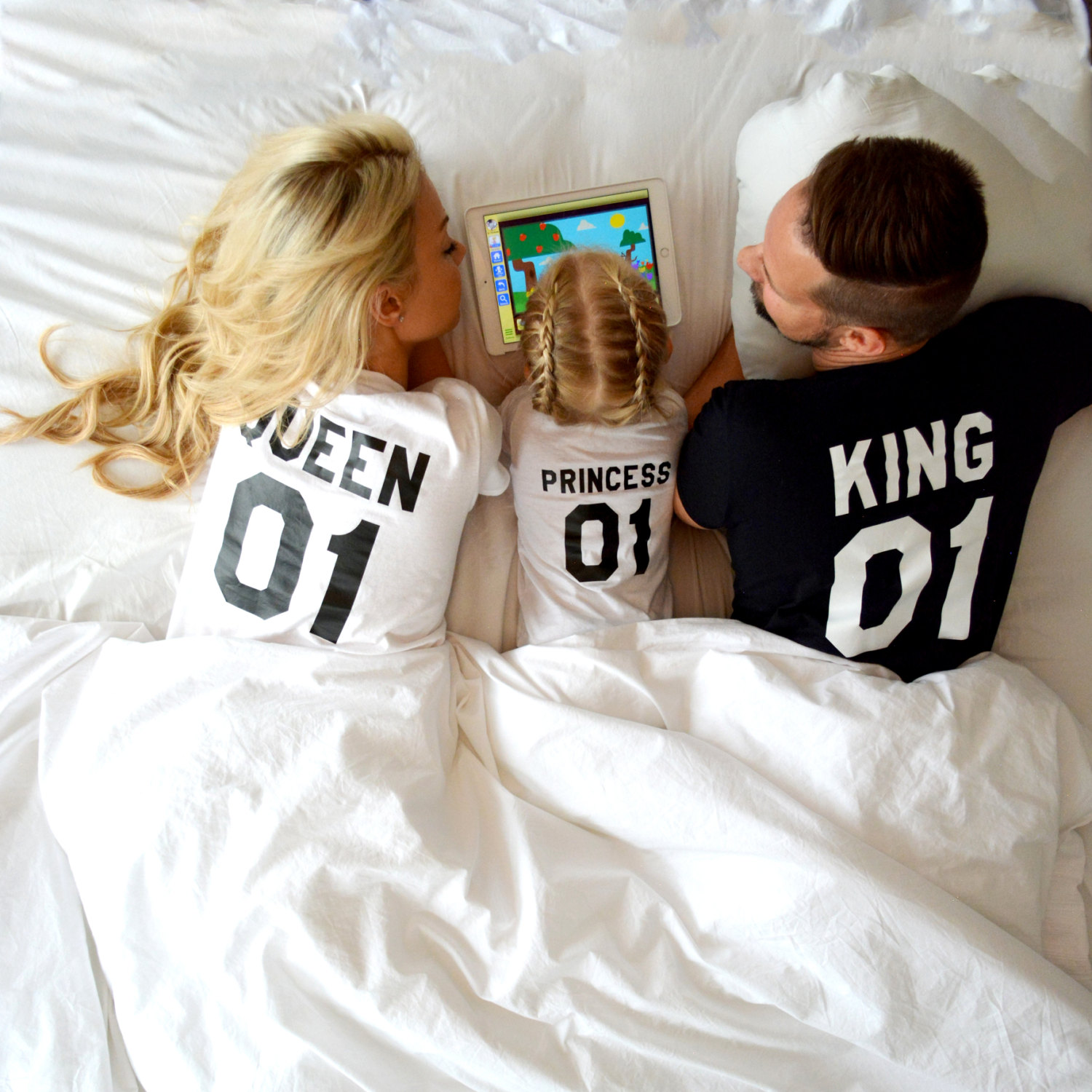 King Queen Prince, Matching Family Shirts, Unisex