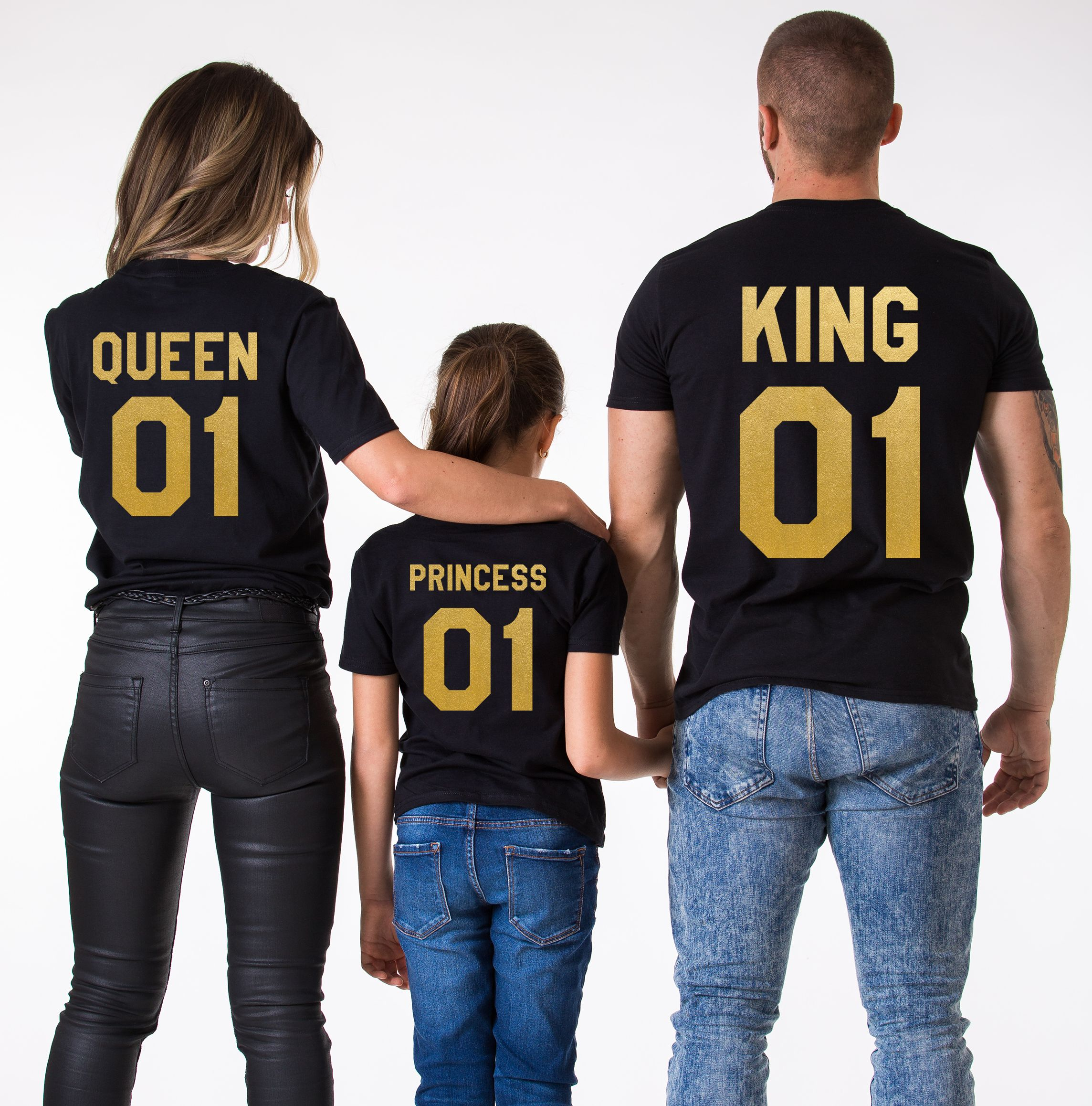 King Queen Princess Matching Family Shirts