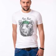 Papa Bear, White/Black