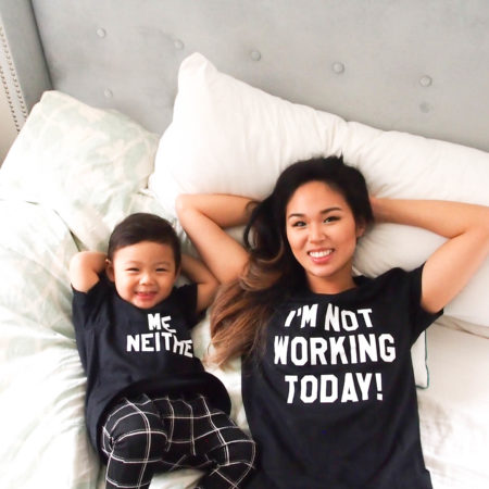 I'm not working today, Me Neither, Mommy and Baby Shirts