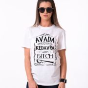 Avada Kedavra Bitch, White/Black