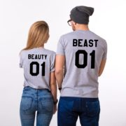 Beauty 01 and Beast 01, Gray/Black