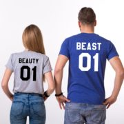Beauty 01 and Beast 01, Gray/Black, Blue/White