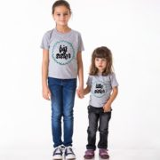 Big Sister Little Sister, Grey/Black, Blue-Green Glitter