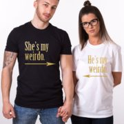 He's My Weirdo, She's My Weirdo, Black/Gold, White/Gold