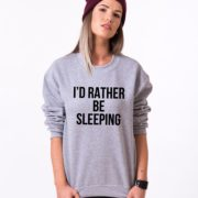 I'd Rather Be Sleeping Sweatshirt, Gray/Black