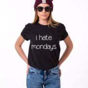 I Hate Mondays Shirt, Black/White