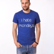 I Hate Mondays Shirt, Blue/White