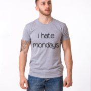 I Hate Mondays Shirt, Gray/Black