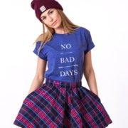 No Bad Days Shirt, Blue/White
