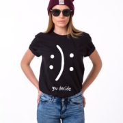 Smile, No Smile, You Decide Shirt, Black/White