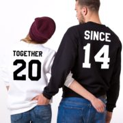 Together Since, Sweatshirt, Black/White, White/Black