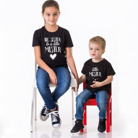 Brother Sister Shirts, Big Sister to a Little Mister, Little Mister