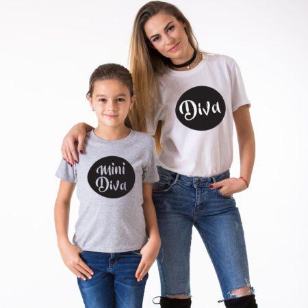 Diva Mini Diva, Matching Mommy and Me Shirts, Family Shirts