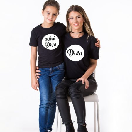 Diva Mini Diva, Matching Mommy and Me Shirts, Family Shirts