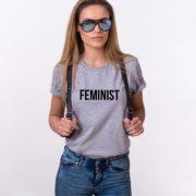 Feminist, Gray/Black