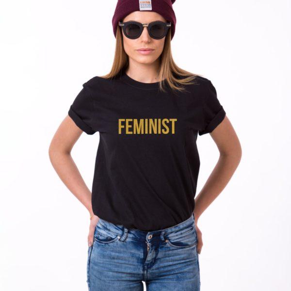 Feminist, Black/Gold