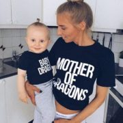 Mother of Dragons, Baby Dragon, Black/White