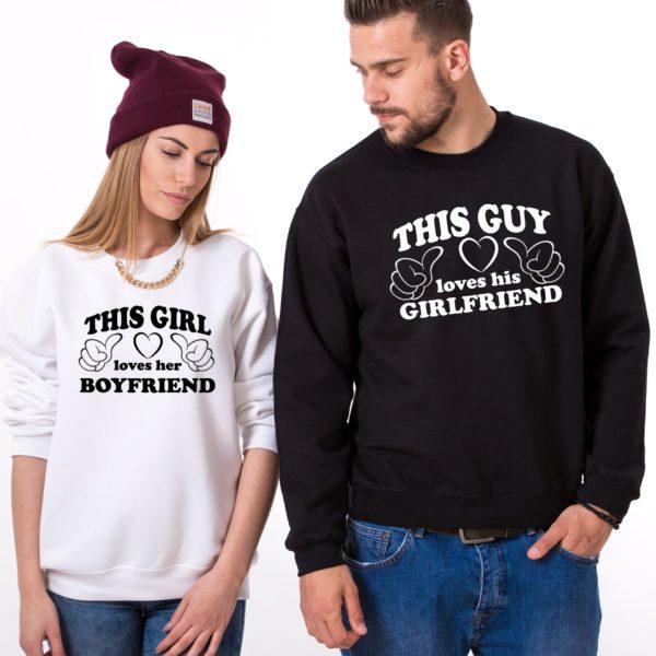 This Guy Loves his Girlfriend, Loves her Boyfriend, White/Black, Black/White