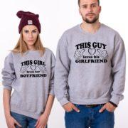 This Guy Loves his Girlfriend, Loves her Boyfriend, Gray/Black